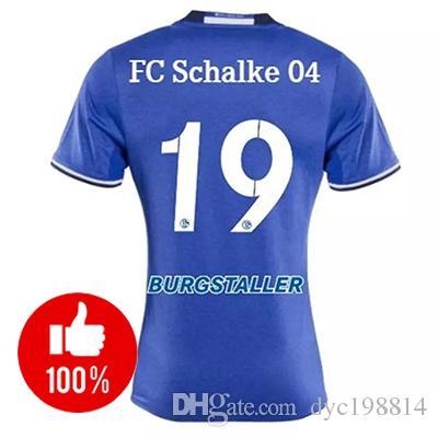 2019 New Season 1718 Schalke 04 Home White Soccer Jersey 2017 Schalke 04  Away Soccer Shirt Top Quality Football Shirt From Dyc198814 c208704afad4e