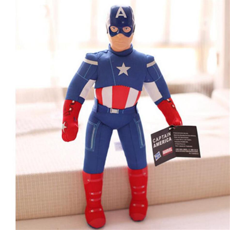 40 cm Avengers Spiderman Demir Adam Kaptan Amerika Superman Çocuklar Çocuklar için Dolması Peluş Oyuncaklar Bebek OOA5015