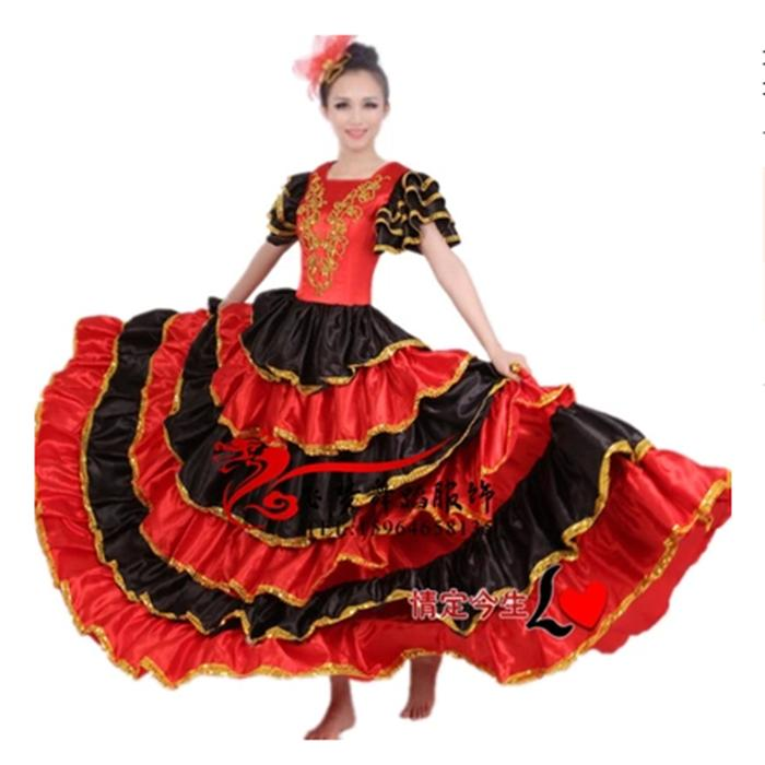 70d9e522a11 Acheter Robe De Danse Flamenco Adulte Paso Doble Dance Dress Robe De Flamenco  Costume Fille De  52.79 Du Stepheen