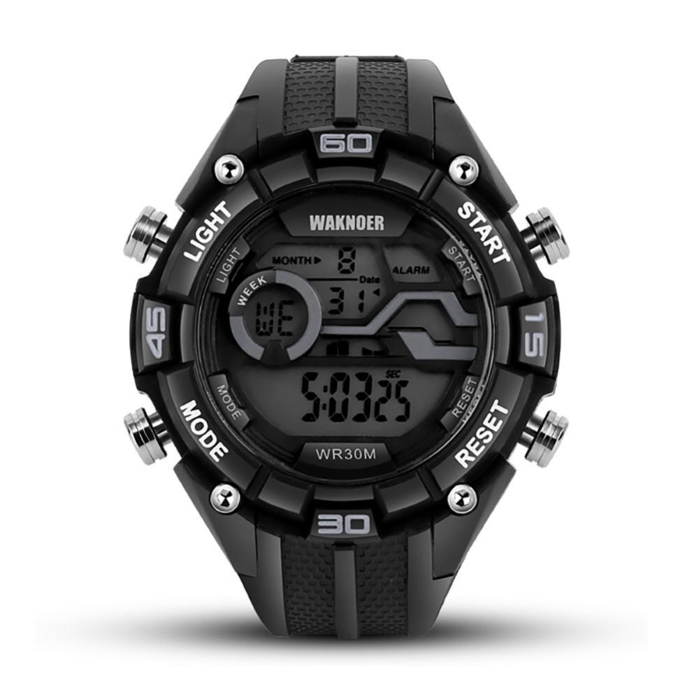 Digitale Uhren Smael Markenuhr Männer Led Digitaluhren Sport-militär Quarz Armbanduhr Stoßfest Wasserdicht 50 Mt Relogio Masculino
