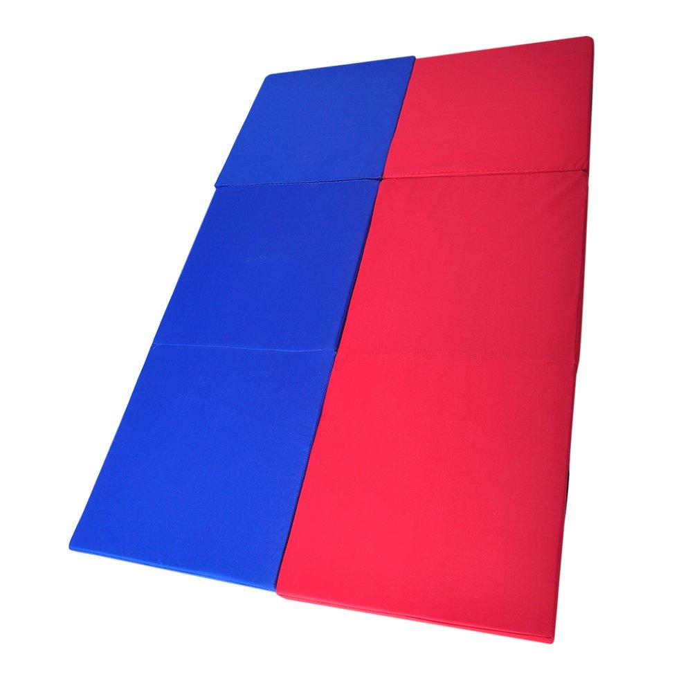 180*60*5cm Folding Yoga Mat Pearl Wool Soft Dance Pads Three Fold Gymnastics Mat Pilates Sports Training Exercise Sit-up