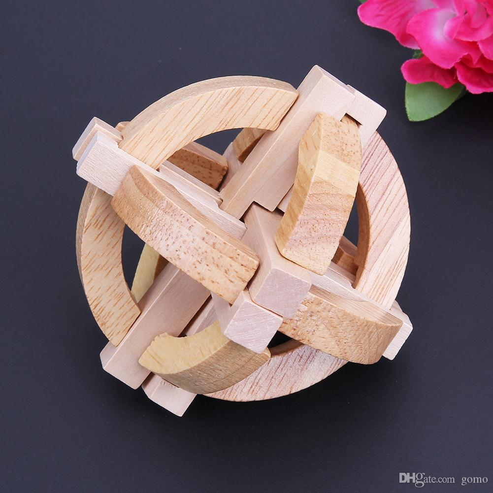 Wooden Development Toys Lock Wooden 3D Puzzle Toys for Children  Intellectual Educational Game Toy Kid Adult