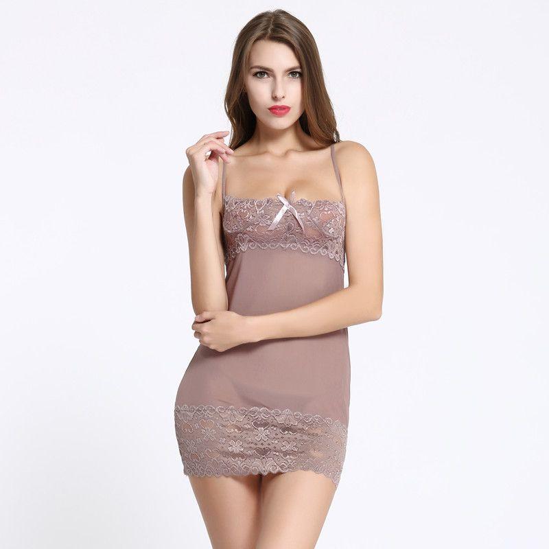 0219d29a27 2019 Pajama Sets Women S Sleepwear Full Slips Femme Underskirt Women Sexy  Petticoat Ladies L Underdress Female Lingerier Woman Slip Loose Pajamas  From ...