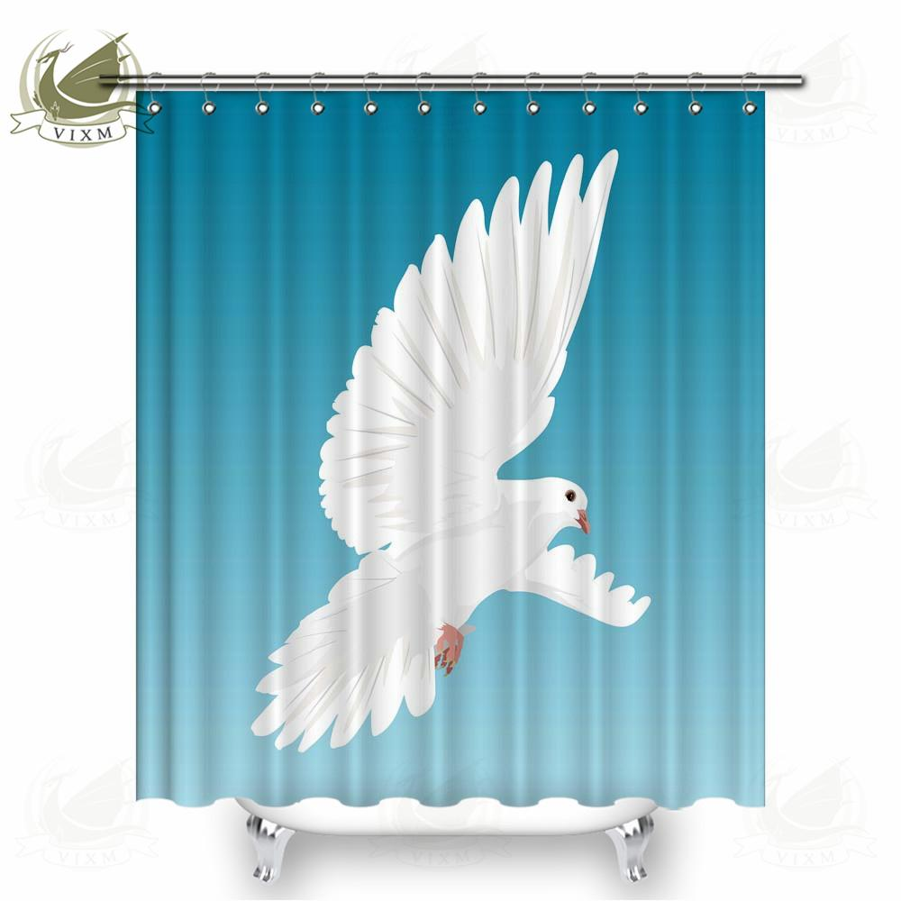 2019 Vixm Home Eagle In The Sky Fabric Shower Curtain Hand Drawn Art Bath For Bathroom With Hook Rings 72 X From Bestory 1665