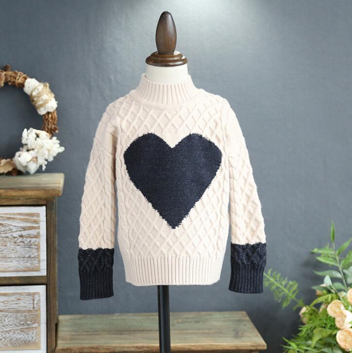 672973d4d 2017 New Arrivals Winter Children Girls Sweater Fashion Love ...