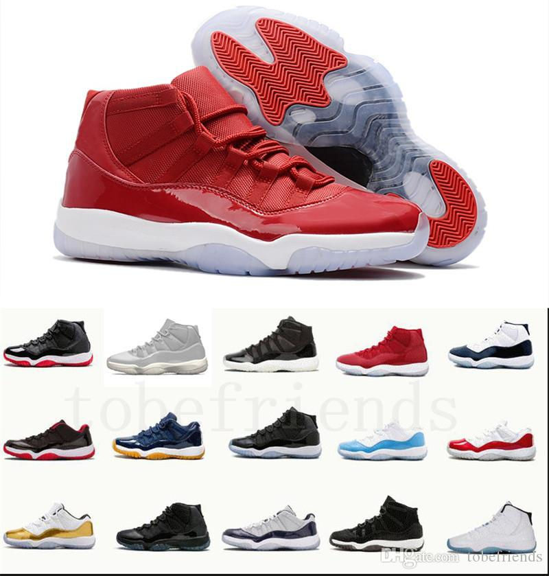 a6ecfec95d21f7 11 11s Cap And Gown Prom Night Men Basketball Shoes Platinum Tint Gym Red  Bred Prm Heiress Barons Concord 45 Cool Grey Woman Sneakers Basketballs Shoes  Mens ...