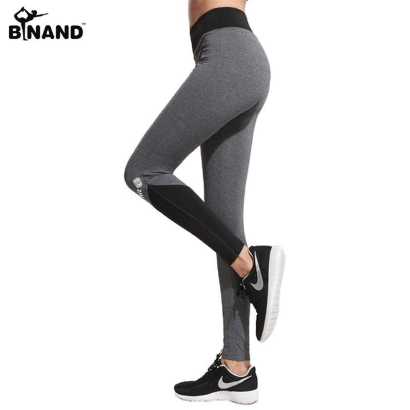 Compre Binand Mujeres Letras De Impresión Patchwork Delgado Deportes  Leggings Fitness Workout Pantalones De Yoga Señora Gimnasio Ropa Al Aire  Libre ... 2ed2b28a0732