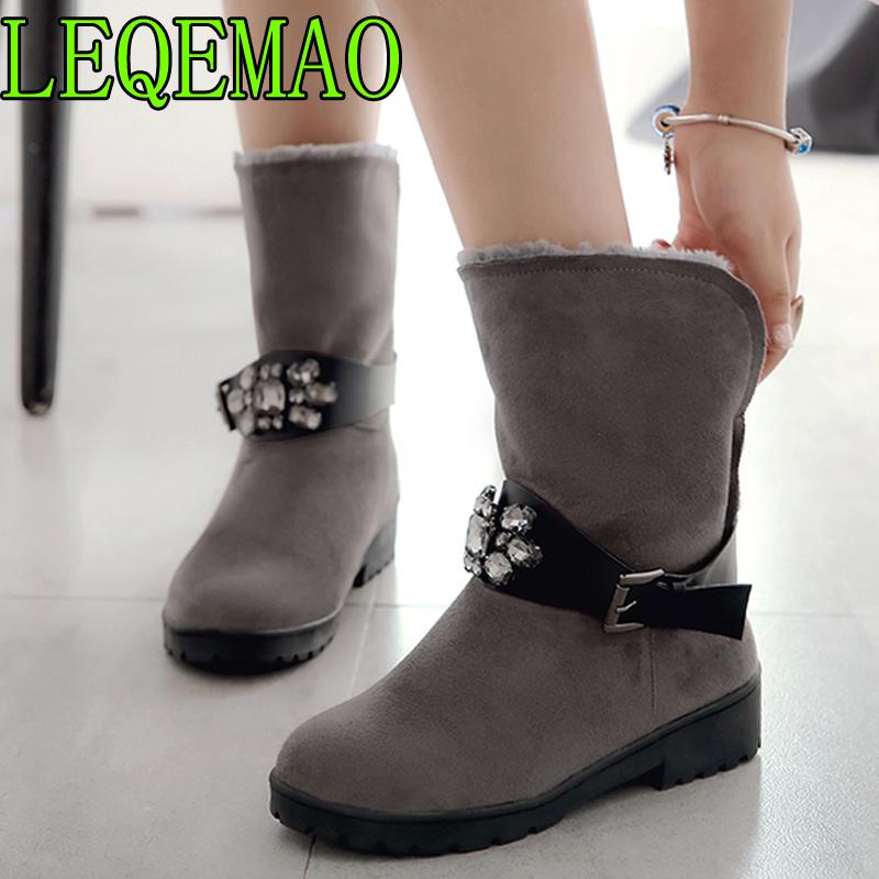 Women Half Boots Winter Short Boot Warm Shoe Flat Botas Mujer Snow Boots  Buckle Fashion Round Toe Shoes Cheap Shoes Womens Shoes From Arrownet 7931945c6b49
