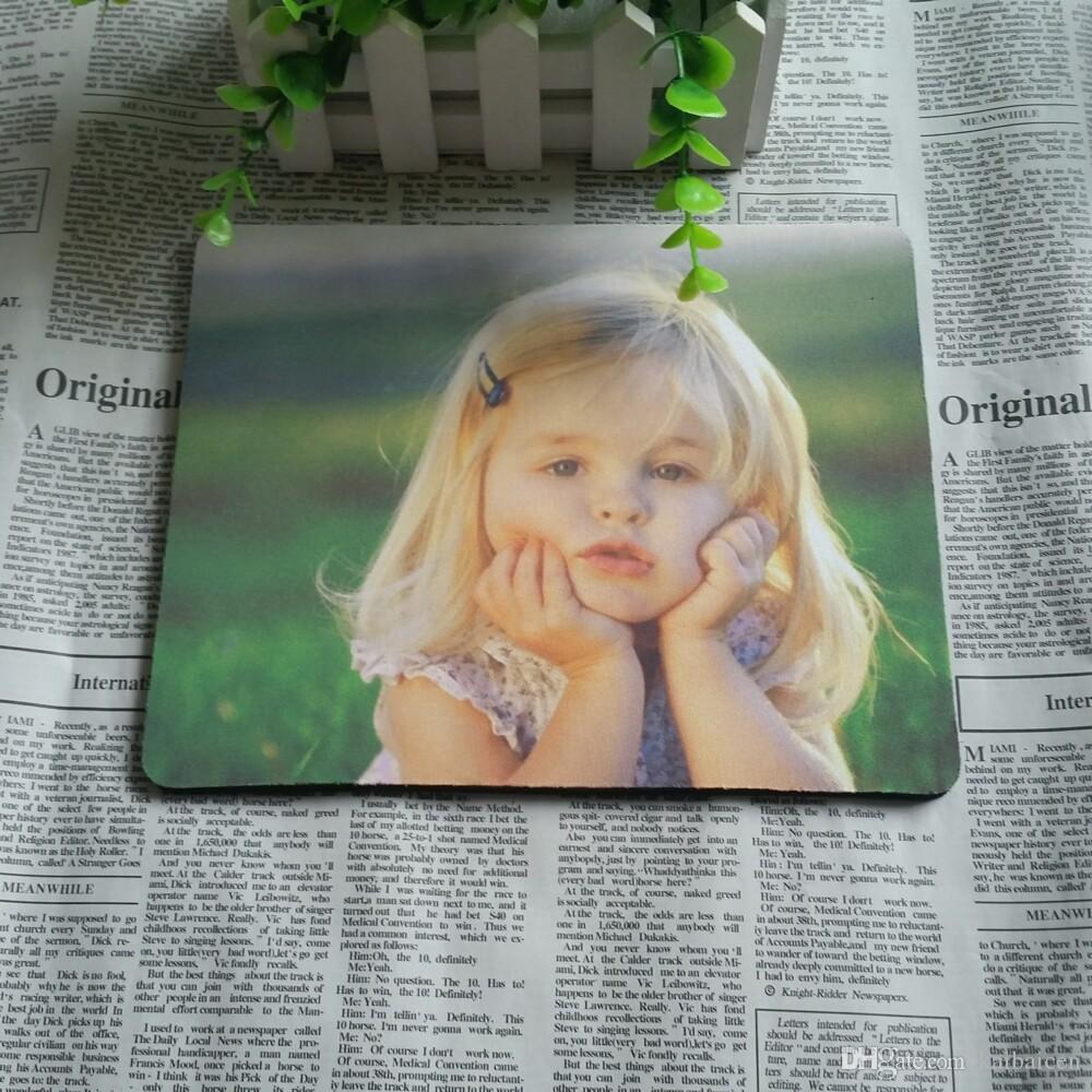 큰 판매 DIY 공백 승화 마우스 패드 인쇄 및 열 프레스 마우스 매트. 도매 무료 배송 22cmx18cmx2mm