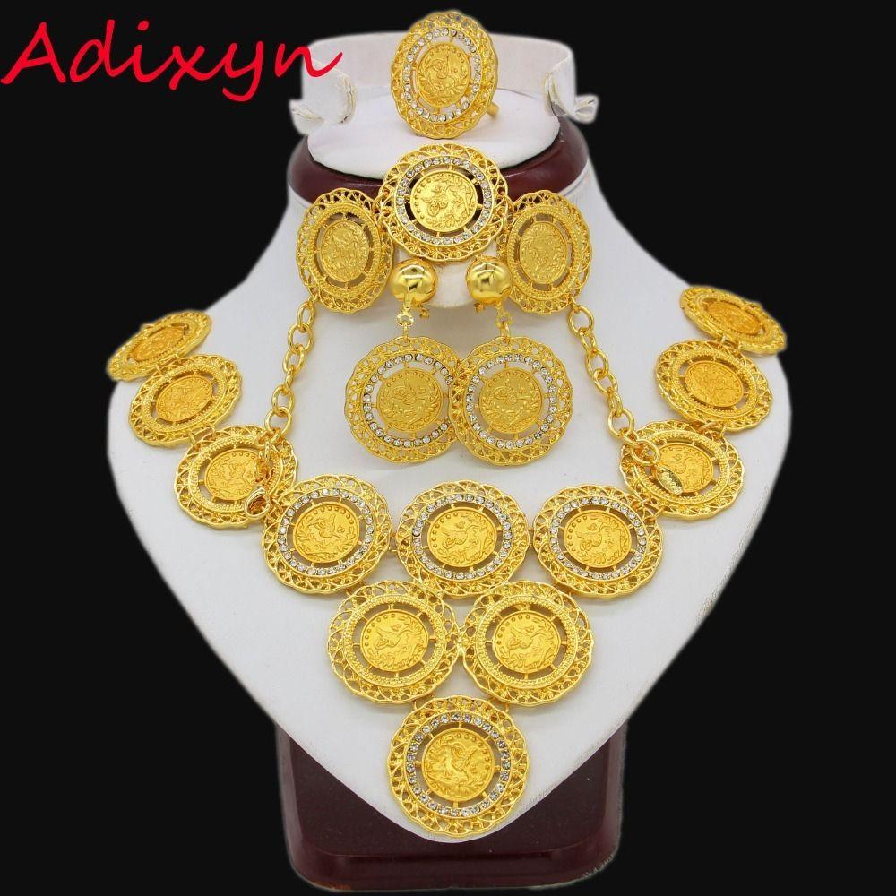 Acheter Adixyn Turkey Coin Collier Boucle Doreille Bague