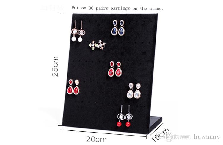 L Style Earrings Jewelry Stand Display Full Velvet Earring Showing Stand Storage Different Colors Show Shelf Wholesale 0726WH