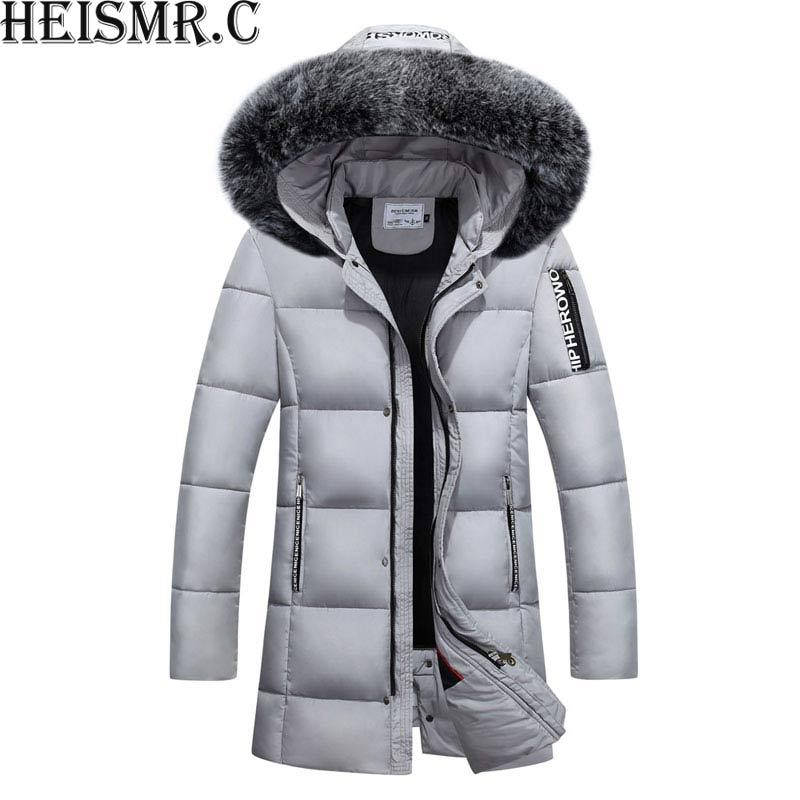 684c4df63b3 2019 40 Degree Men S Russia Winter Jacket Mens Fur Collar Thicken Parkas  Hooded Casual Down Cotton Padded Brand Outwear Coats AW44 From Bairi
