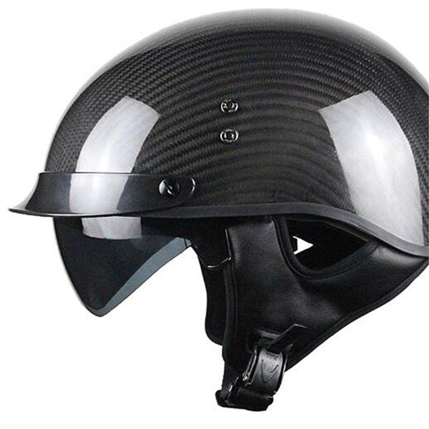 Lightweight Motorcycle Helmet >> Hot Sell 3 4 Carbon Fiber Helmet Light Weight Motorcycle Helmet Open