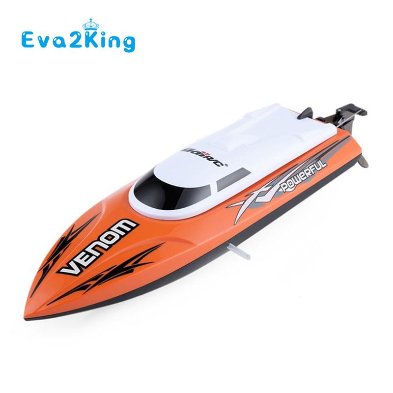 Eva2king Hot Sale High Quality Mini Rc Speedboat Orange Mini Rc