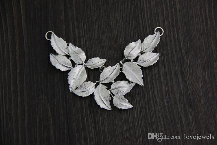 designer jewelry vintage 925 sterling silver pendant handmade charms Leaf pendant female folk style exaggerated necklace pendan china direct