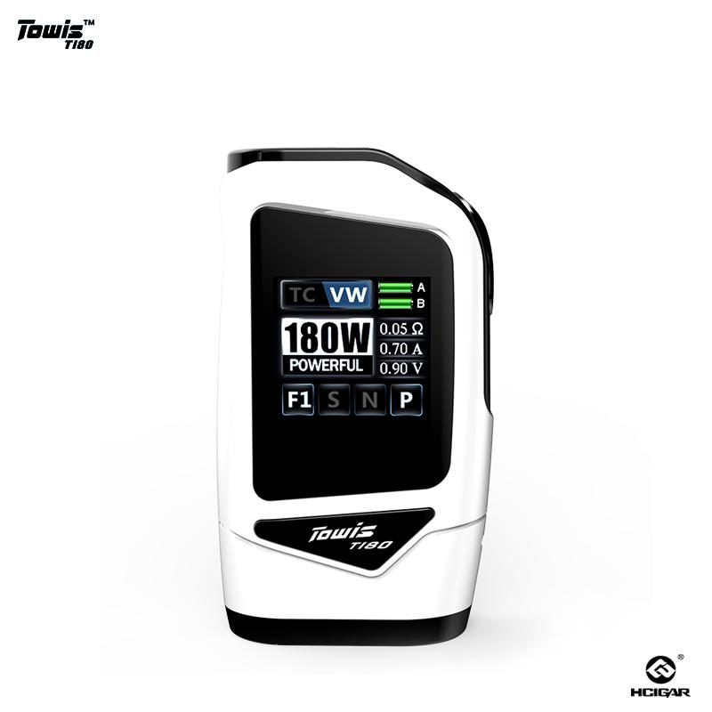 Original HTowis Touch Screen squonk mod T180 with XT180 box bf chipset  output 5-180 W TFT Color Screen e-cigarette mod