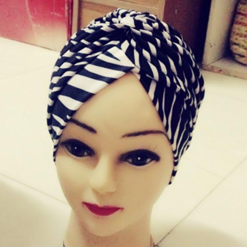afc4809aa4f Leopard Flower Printed Women Stretchy Hat Turban Head Wrap Band Chemo  Bandana Hijab Pleated Indian Cap Prom Hair Accessories Pearl Hair  Accessories From ...