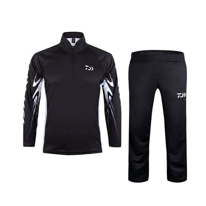 cec4f36a3 Compre Verano De Los Hombres De Secado Rápido Traje De Pesca Transpirable  Manga Larga Camisas Pantalones Pantalones Ciclismo Deporte Exterior Ropa De  ...