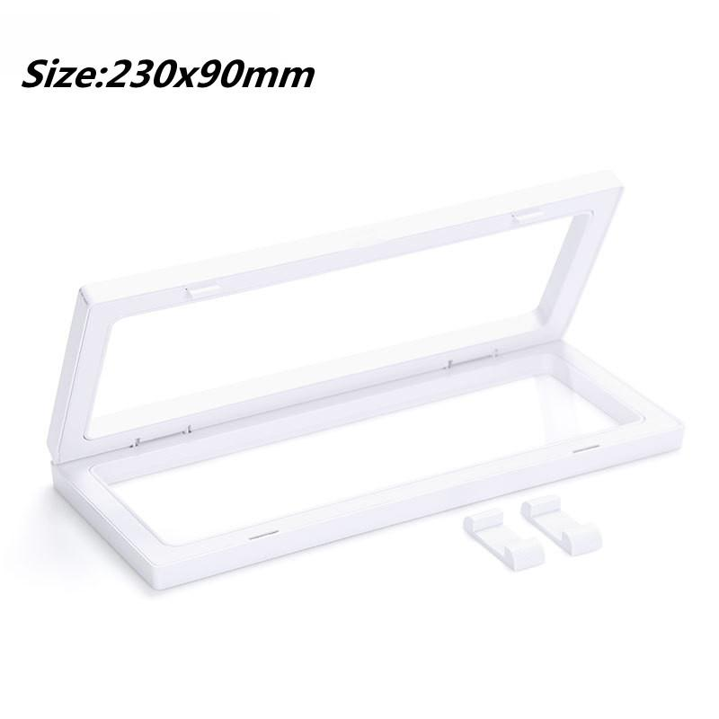 230x90MM PET Membrane Jewelry Ring Pendant Display Stand Holder Bague Packaging Box Protect Jewellery Floating Presentation Case