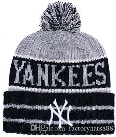 1e7a027213b9e 2019 Unisex Autumn Winter Hat Men Women Sports Hats Custom Knitted Cap  Sideline Cold Weather Knit Hat Soft Warm New York Beanie NY Skull Cap Sun Hat  Hats ...