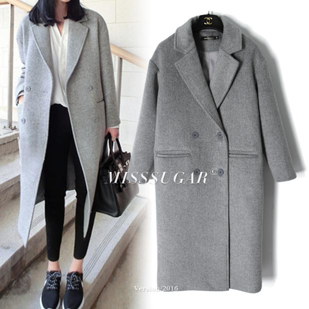 2019 Light Grey Wool Coats Autumn Winter 2018 Women Peacoats Grey Twill  From Cety 43a6cf2d613f