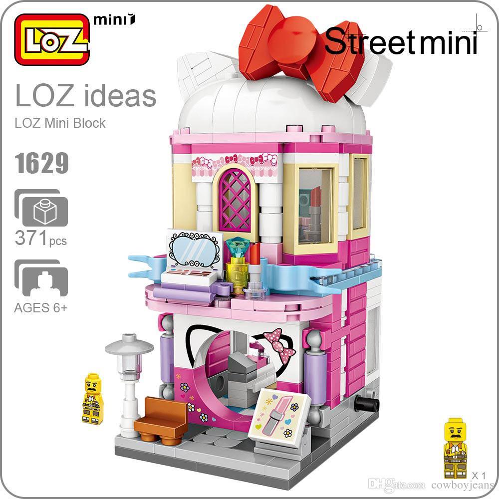 2018 Loz Mini Blocks Architecture Makeup Shop Building Block City