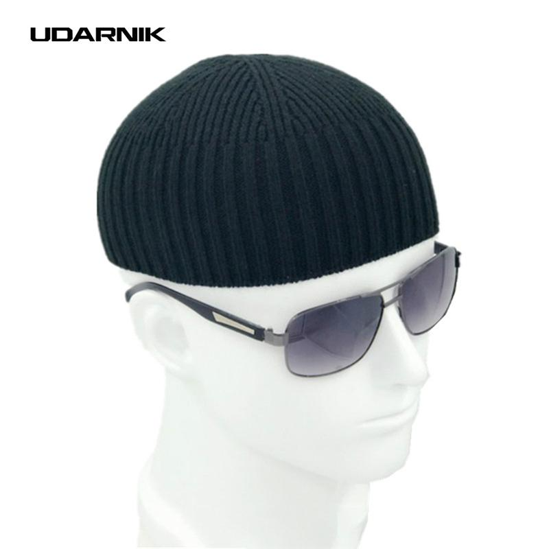 5c3f26bfcba 2019 Men Knitted Hat Wool Blend Beanie Skullcap Cap Brimless Hip Hop Hats  Casual Black Navy Grey Retro Vintage Fashion New 904 897 From Godefery
