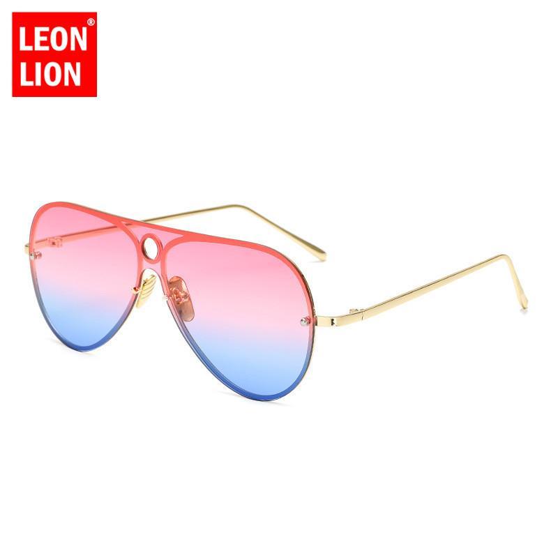 5c471fd1c2fd Leonlion Large Frame One Piece Sunglasses Man Driving HD Classic Sun  Glasses Women Men Brand Designer Retro Ocean Lens Glasses Eyewear Designer  Sunglasses ...