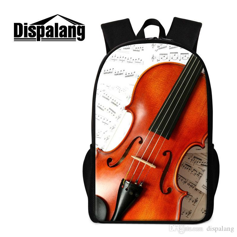 Brand Designer Backpacks Violin Pattern Fashion Women Lady Rucksack  Children School Bags Tactical Mochila Bookbags For Teens Travel Bagpacks  School Bags For ... 04ad466561c52