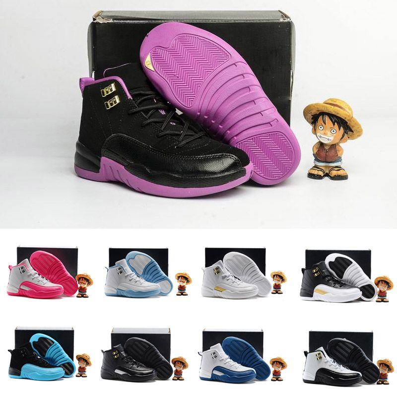 best service 56282 f7ca6 Compre Nike Air Jordan 6 11 12 Retro Niños Niñas 12 12s Niños Zapatos De  Baloncesto Niños 12s Gimnasio Rojo Rosa Y Blanco Morado Francés Azul Niños  Pequeños ...