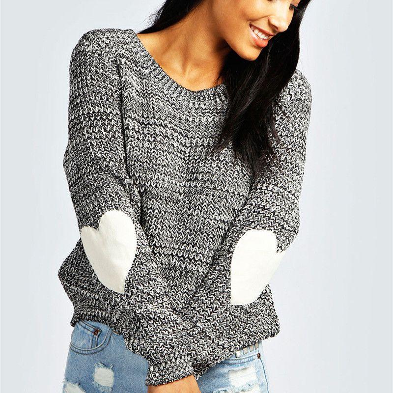 buy popular 12d25 560d3 Maglione LOVE Appliques Maniche lunghe Donna Cardigan S-XXL Maglione  lavorato a maglia Maglioni coreani