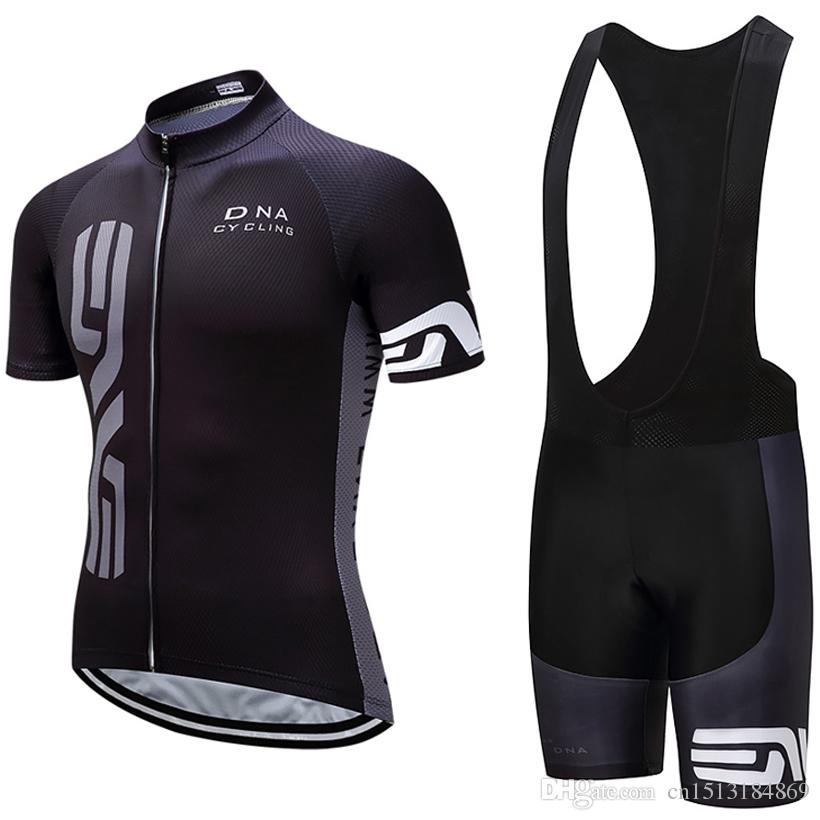 cd71f3b35 UCI 2018 Pro Team DNA Black Short Sleeve Cycling Jersey Bib Shorts ...