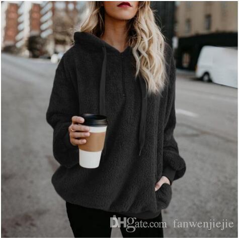 f20a3dc08f0a 2019 Women Hooded Hot Sale Women S Hoodie Girl Winter Loose Hoodie Hooded  Jacket Warm Outerwear Coat Cute Sweatshirt 2018 New Black From  Fanwenjiejie