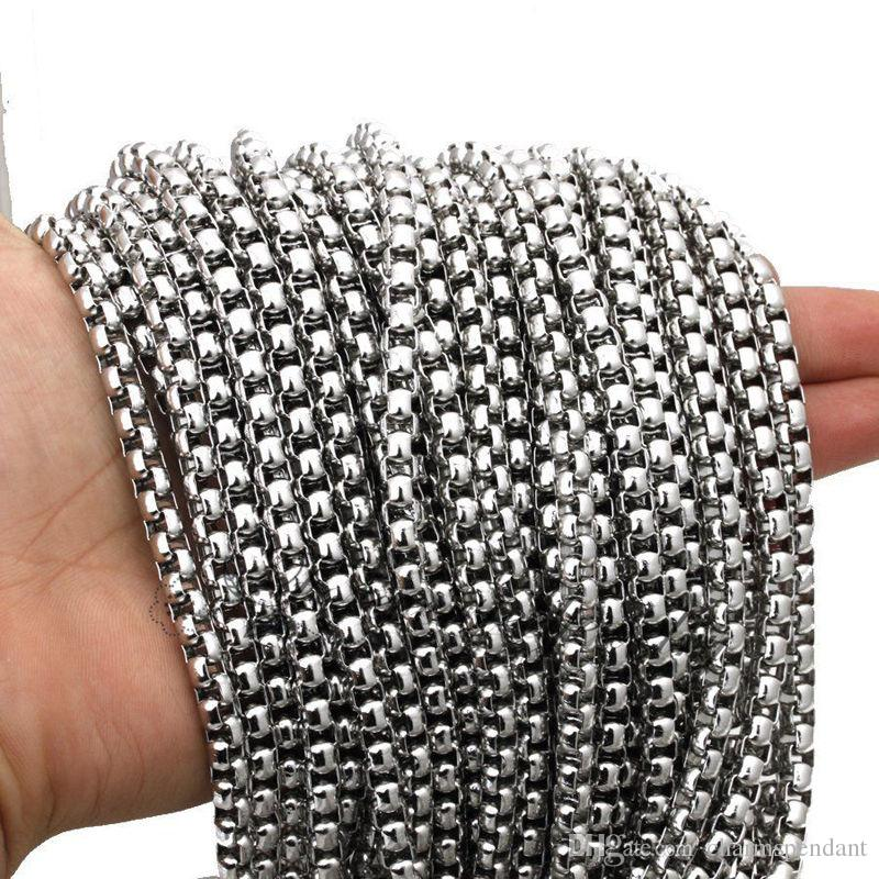 Best price Wholesale in bulk 10meter Stainless Steel 2.5/3/4/5mm Box Square Rolo Aberdeen Chain jewelry findings / Marking Chain DIY