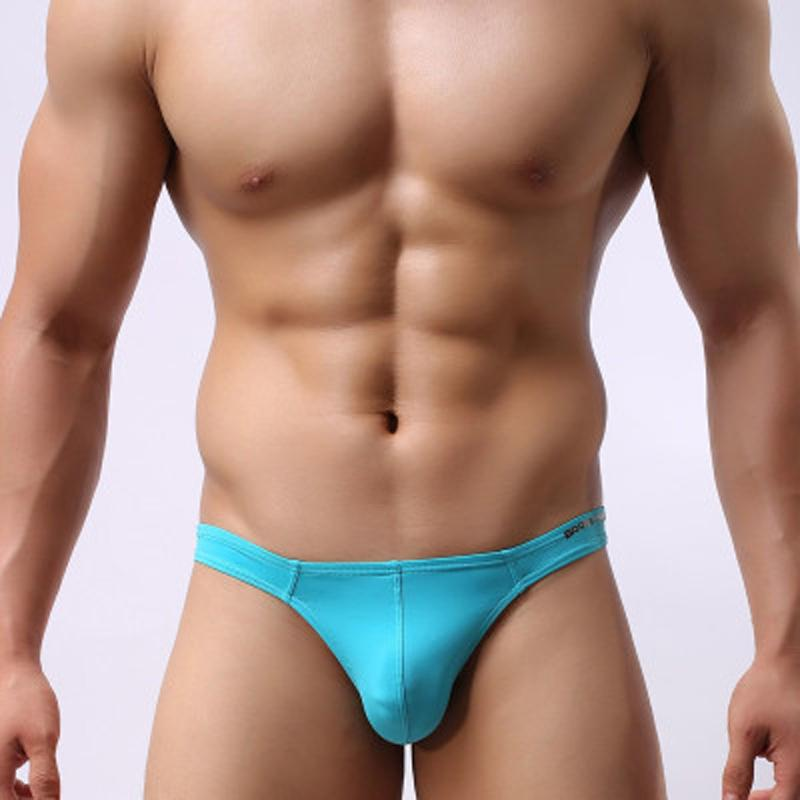 Man Swimming Surfing Swimwear Sexy Low Rise Bikini Thong Briefs Mens Nylon Elastic Sunga G String Surf Swimsuits Wholesale