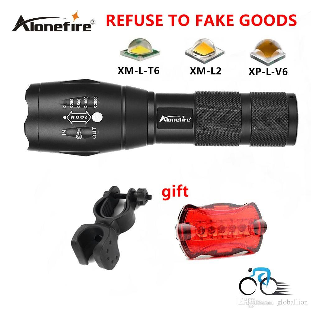 AloneFire E17 CREE 3800 lumens cree xml t6 high power led flashlight bicycle light bike holder