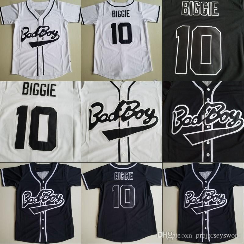 2019 Baseball Jersey Biggie SMALLS  72 BAD BOY Notorious Big Movie Jersey  Embroidery Stitched White Black High Quality From Projerseysword cdaa7128e