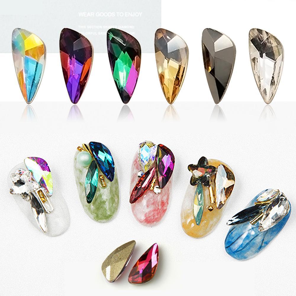 Colored Crystal Glass Rhinestones Decorations Big Ab Angel Wing ...