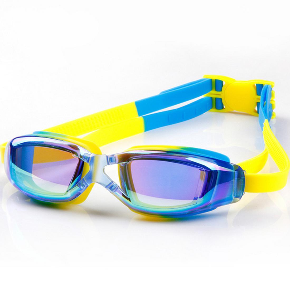 5a2b01ebb Compre Proteção UV À Prova D  Água Crianças Óculos De Natação Anti Fog  Luzes Lente Silicone Quadro Criança Óculos De Natação Piscina Acessórios  Óculos De ...