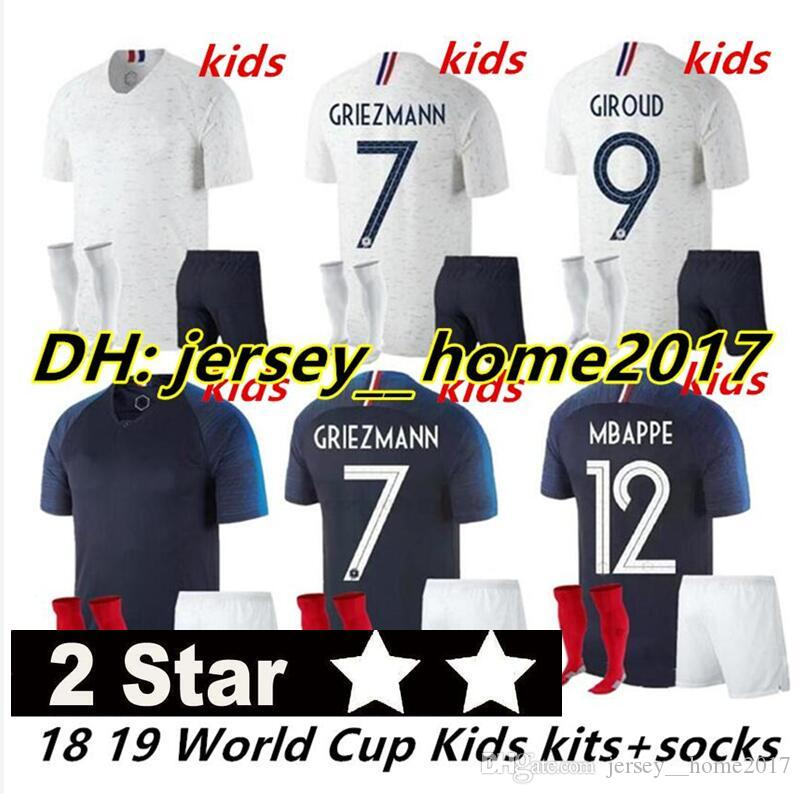 ec6c9353f37 ... australia kids mbappe griezmann pogba 2 stars french world cup jerseys 2018  world cup dembele kante