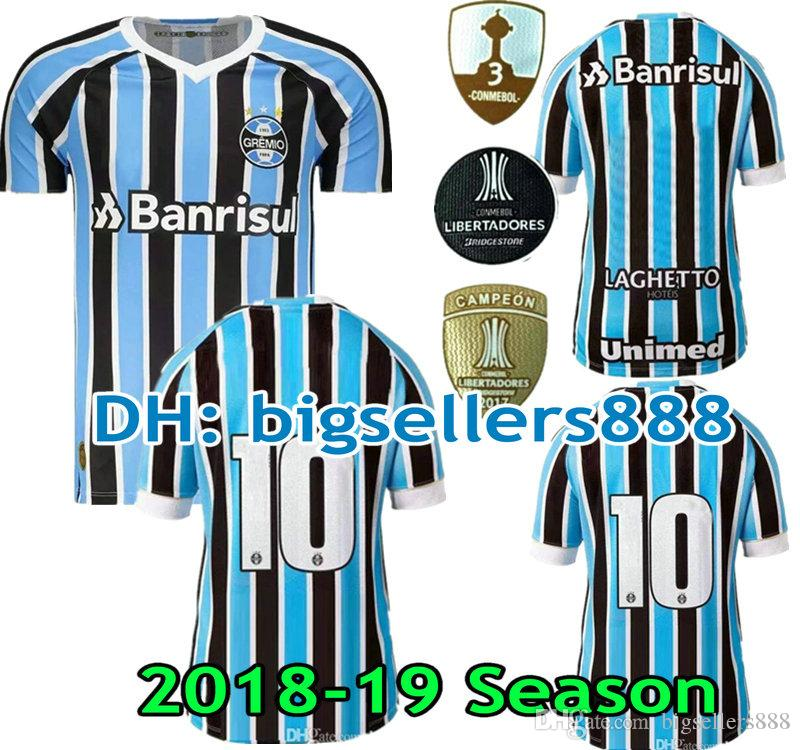 724f5cb5bc NEW 2018 2019 Gremio Home Soccer Jersey TOP QUALITY 18 19 MILLER LUAN  DOUGLAS DIEGO HAILON Gremio Away Third Football Shirt Jersey Soccer Jersey  Shirts ...