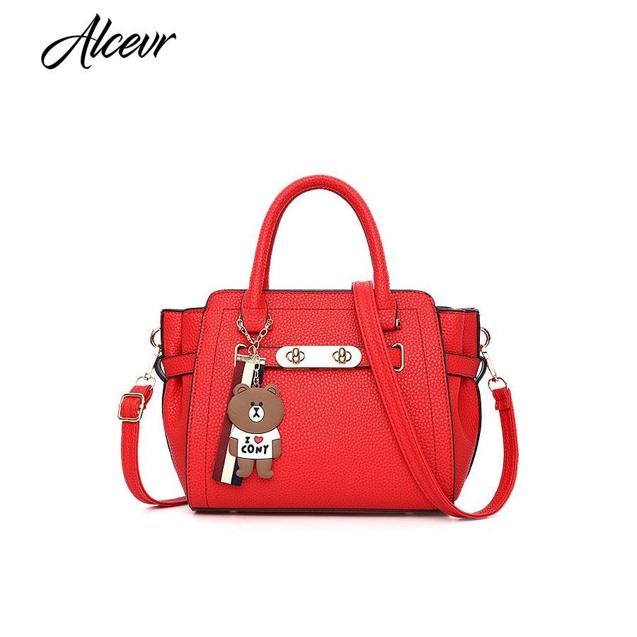 ALCEVR Shoulder Bags For Women 2018 Quality Fabrics Ladies Top Handle Bags  Luxury Handbags Women S Designer Bolsos Mujer Satchels Leather Purses From  ... 1a6089867e021