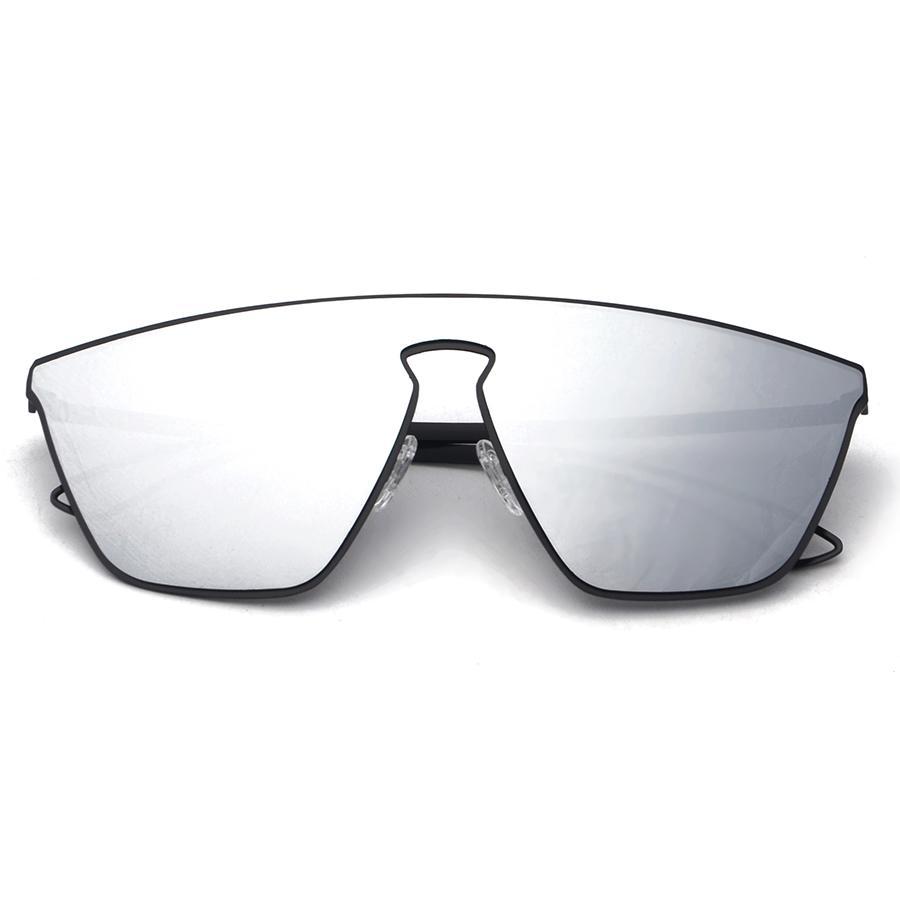d6547d2cd1 Compre Geométrica Integrada Futurismo Hombres Mujeres Gafas De Sol Espejo  Lentes Diseñador Marca Nuevos Gafas Oculos De Sol Moda S30035 A $58.04 Del  ...