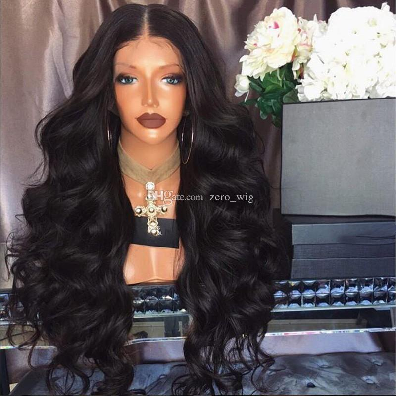 Human Lace Wig Loose Body Wavy Style Full Lace Human Hair Wigs Body Wave Lace Front Wig Bleached Knots Natural Hairline