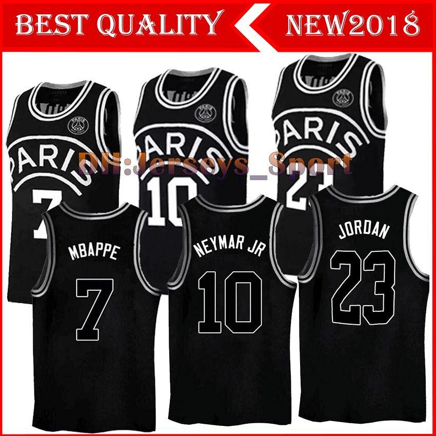2018 2018 Black Basketball Aj Psg Jerseys 23 Michael Mj Neyma 10 Jr