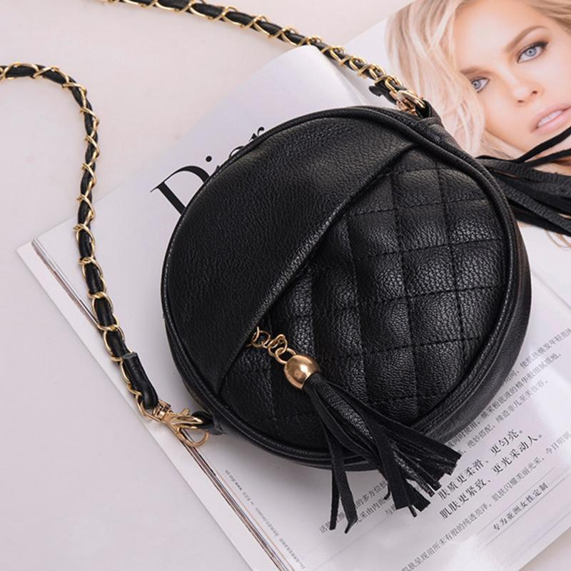 d4bf49ed80a3 2019 Fashion Candy Color Tassel Chain Small Bags Girls Messenger Bag  Leather Crossbody Bags Handbags Cute Purses Rosetti Handbags From Bag33