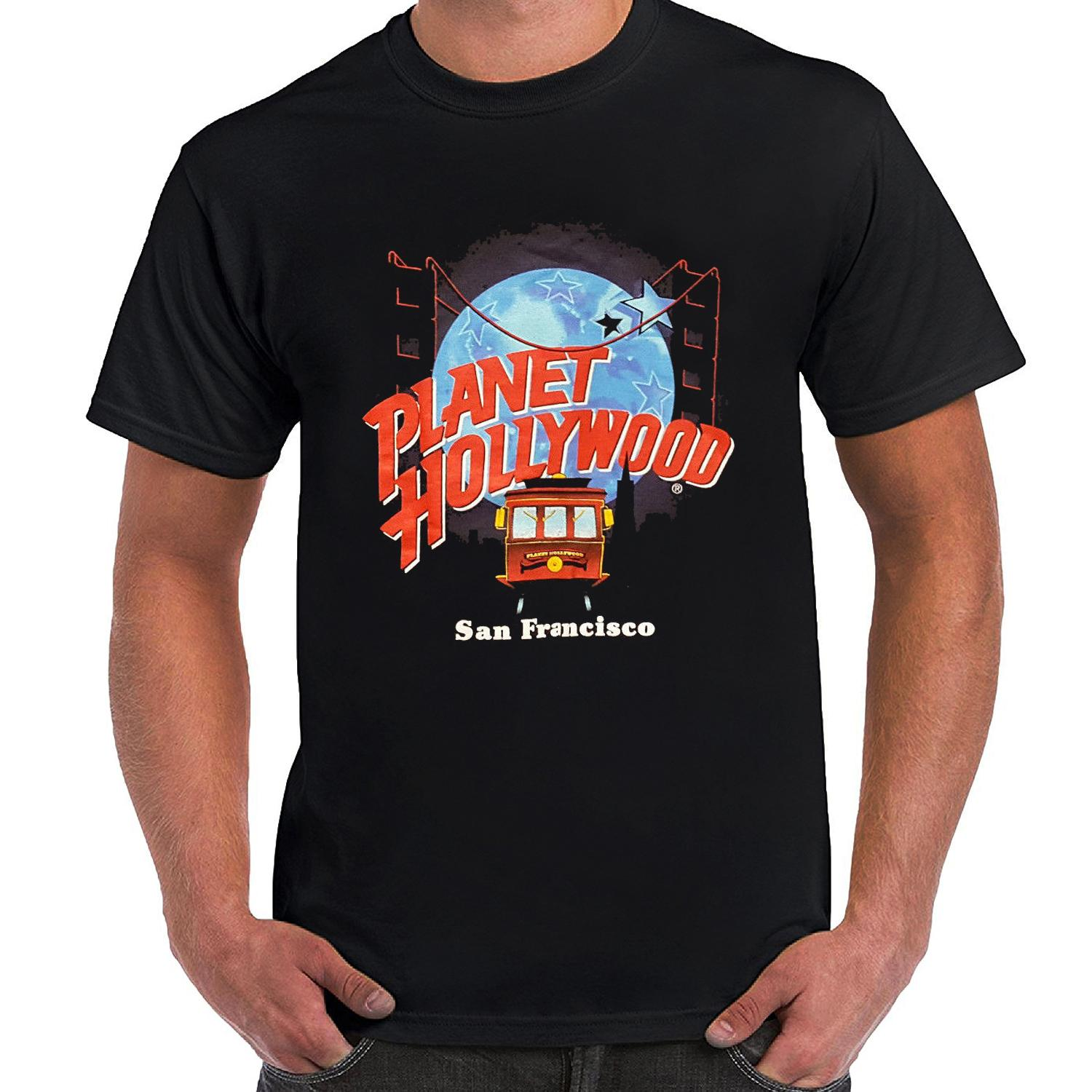 Vintage Planet Hollywood San Francisco Trolley Cable Car Bridge - T Shirt