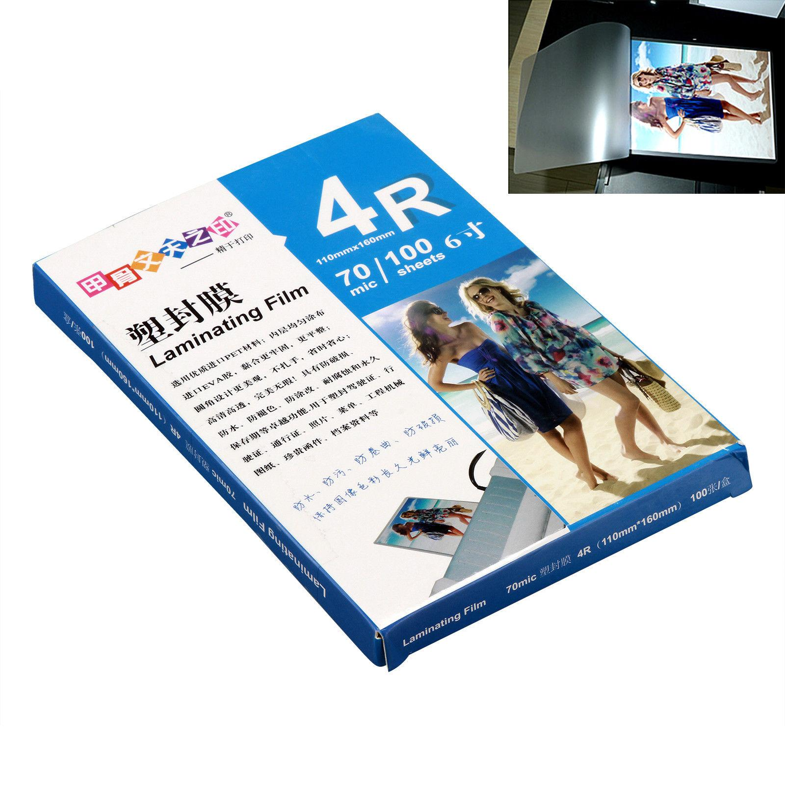 Hot 100 Sheets A3 A4 A5 A6 A7 Clear Photo Paper Laminating Film Pouches 70 mic Office Home Supply - ALL SIZE to choose