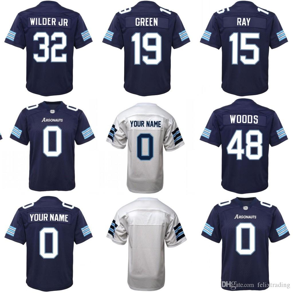 df57789e5b5 2019 Toronto Argonauts Jerseys 19 SJ GREEN 32 Wilder Jr 48 Bear Woods 15  Ray Jersey Men All Stitched Custom Jersey From Felixtrading