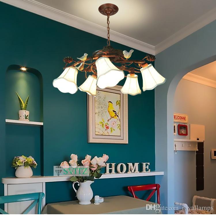 Großhandel American Style Pine Cones Decke Kronleuchter Schlafzimmer  Wohnzimmer Led Leuchten Mediterranen Garten Retro Restaurant Hängen Lampen  Von ...